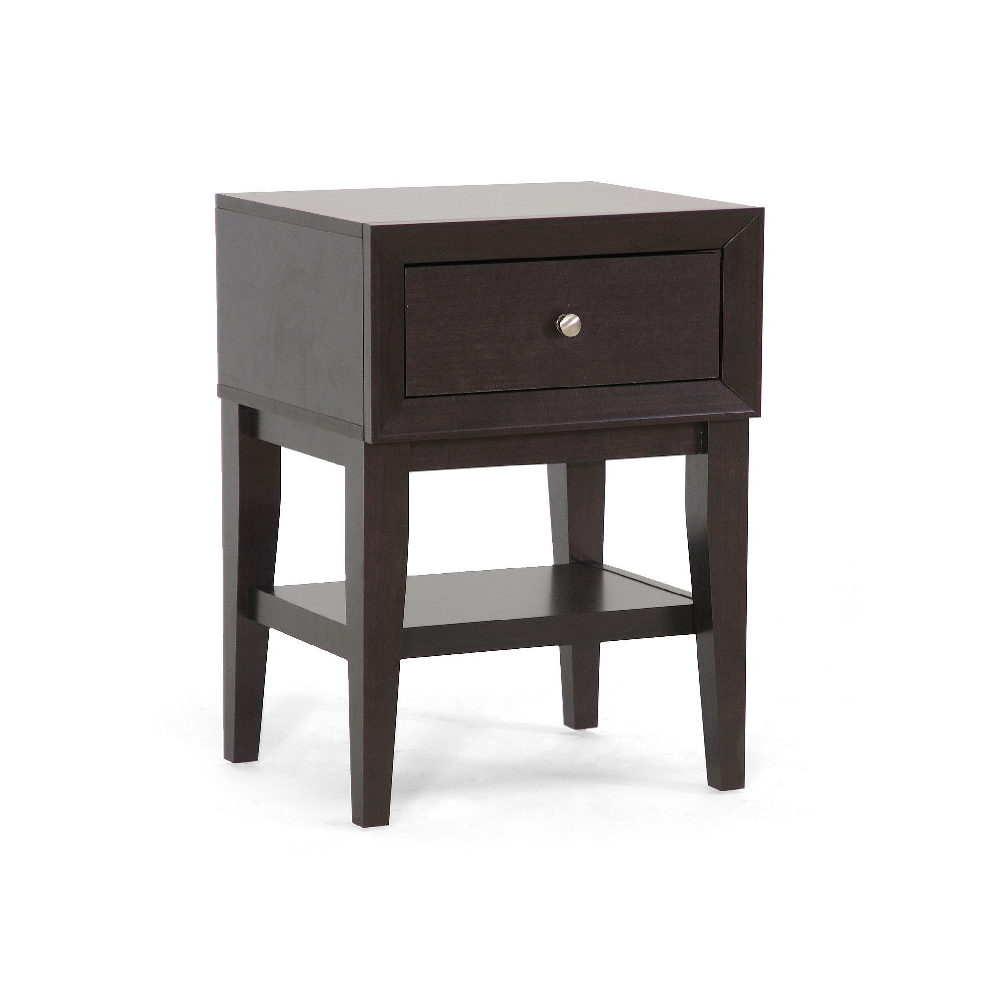 baxton studio gaston accent table brown products winsome squamish with drawer espresso finish legs nesting cocktail tables gray wash coffee wooden dining chairs target entry