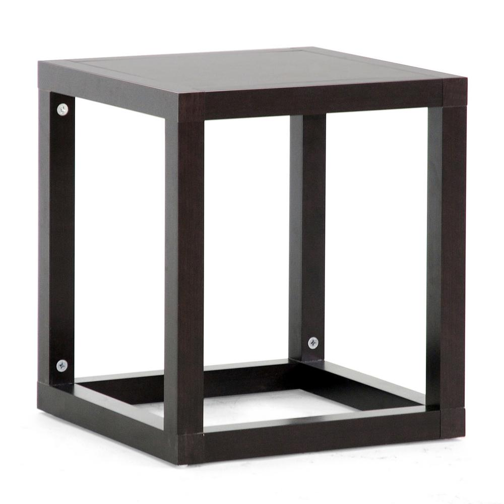 baxton studio hallis dark brown end table the tables accent dining room top decor low glass coffee target patio hallway and entry high bar kitchen tall skinny nightstand bedside