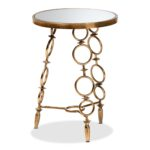 baxton studio inaya modern and contemporary antique gold finished glass accent tables metal table long legs tall nightstands clearance target entry big round coffee percussion 150x150