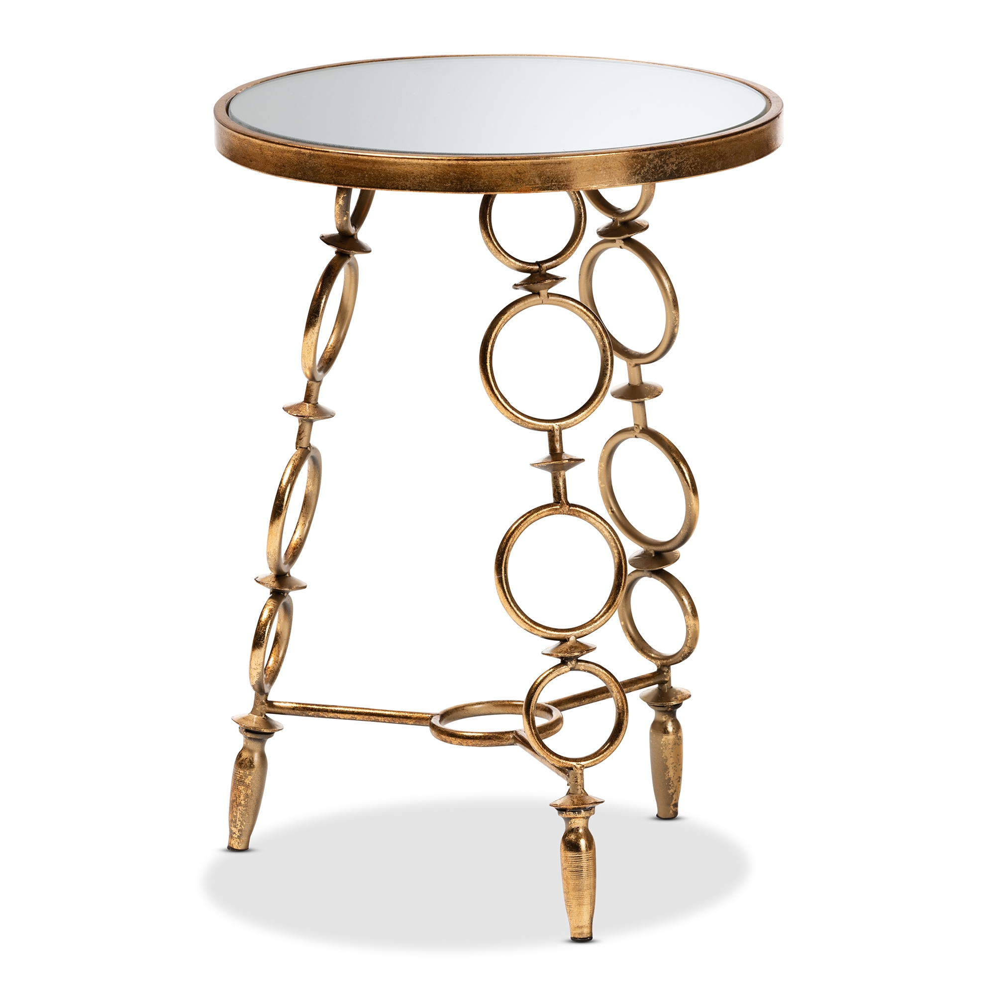 baxton studio inaya modern and contemporary antique gold finished metal glass accent table coffee end tables narrow outdoor ashley furniture nesting sofa behind french beds