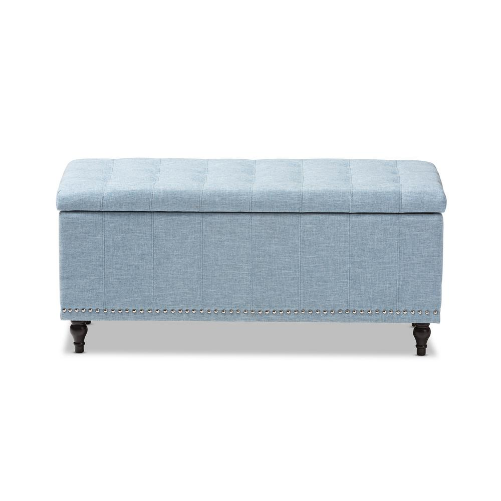baxton studio kaylee light blue bench bedroom benches accent table threshold wood and metal mango chest drawers shower head outdoor terrace furniture round coffee with storage