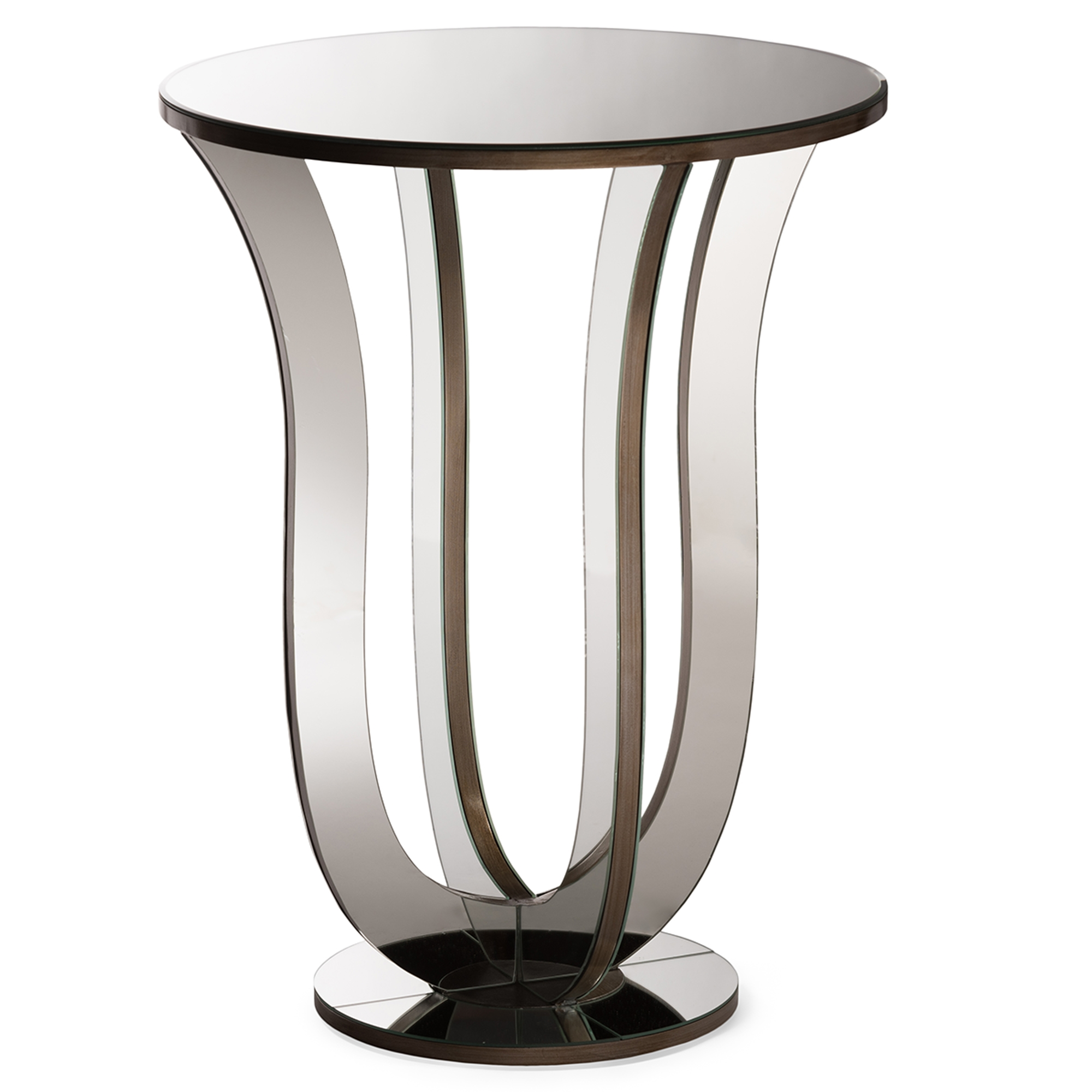 baxton studio kylie modern and contemporary hollywood regency end table with mirror accent glamour style mirrored side clear acrylic furniture lamp storage decorative accessories