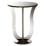 baxton studio kylie modern and contemporary hollywood regency metal accent side table glamour style mirrored bronze paint sofa with console rod iron end tables little patio 150x150