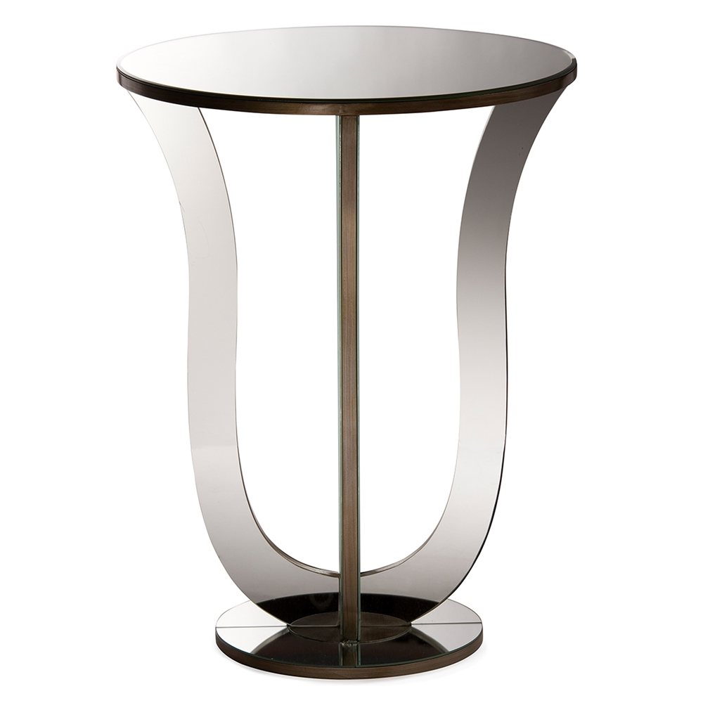 baxton studio kylie modern and contemporary hollywood regency metal accent side table glamour style mirrored bronze paint sofa with console rod iron end tables little patio