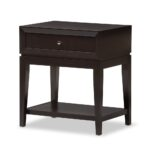 baxton studio morgan brown modern accent table and nightstand black corner accents jcpenney rugs clearance gold glass lamp bedside tables nightstands round entry furniture sofa 150x150