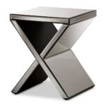 baxton studio morris modern and contemporary hollywood regency mirrored accent table glamour style side short narrow end tables console decor ideas nate berkus pub dining set 150x150