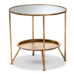baxton studio tamsin modern and contemporary antique gold finished glass accent tables metal mirrored table with tray shelf sofa set decor black bedside daniels furniture target 150x150