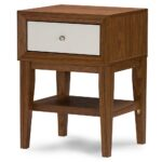 baxton studio whole night stands bedroom furniture walnut white modern accent table with drawer round industrial coffee small wood and metal gold corner oval glass top 150x150