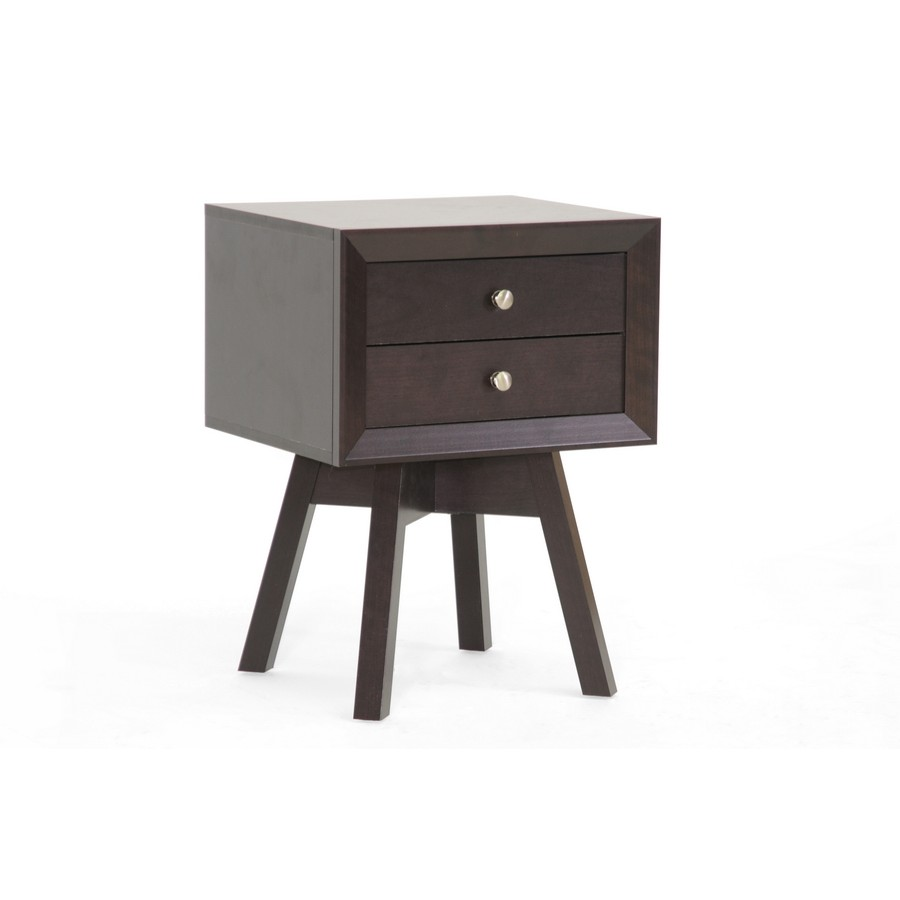 baxton studios warwick brown modern accent table and nightstand with drawer pipe desk round industrial coffee behind couch stools small wood metal living room decorating ideas