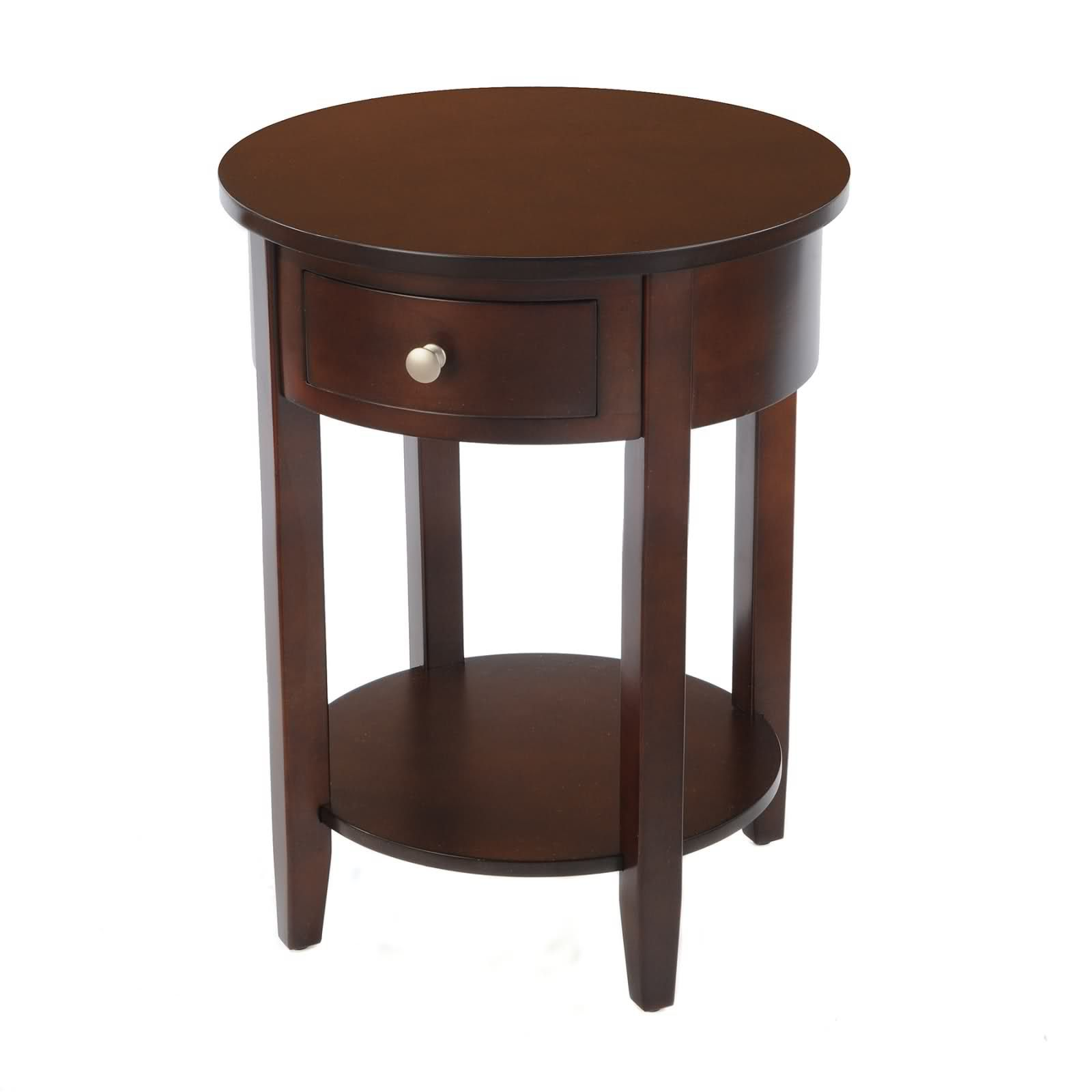 bay shore collection round side table with wood top and drawer spin prod accent tan threshold espresso acrylic nesting coffee oval glass end inch hairpin legs metal frame mahogany