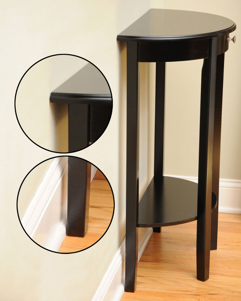 bay shore half circle console table accent tables alt round click any view high resolution gold glass coffee storage drum diy sliding barn door retro end rustic entry room bath