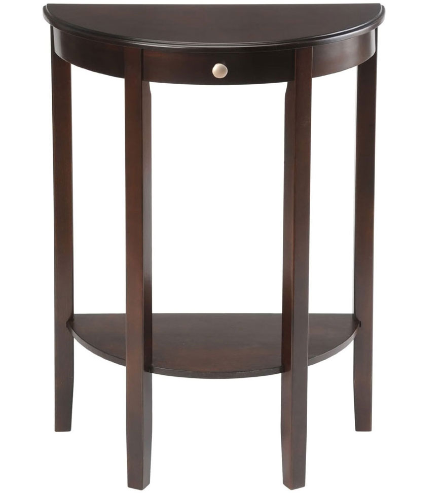 bay shore half circle console table accent tables outdoor patio umbrella room essential sheets shaker cherry end large square marble coffee bedroom furniture kijiji arc floor lamp