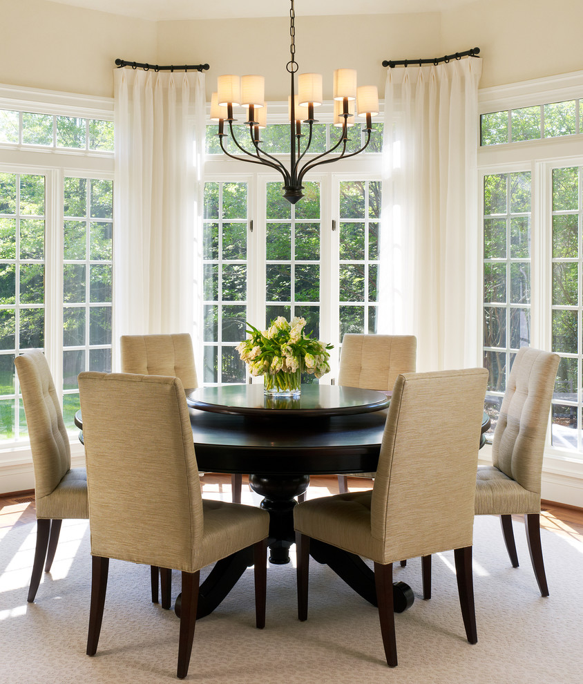 bay window curtain rods living room contemporary with accent table dining transitional breakfast champagne drapes french doors corner for cotton napkins glass lamps porcelain jar