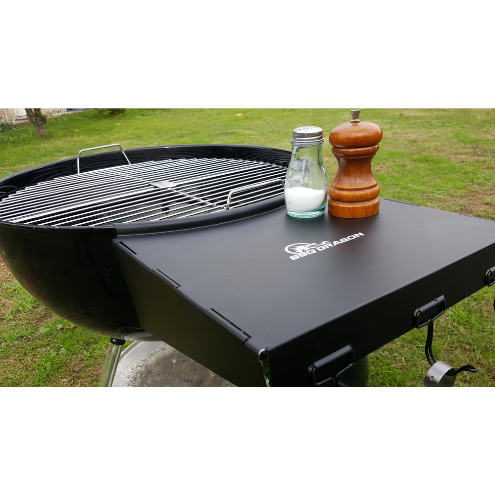 bbq dragon wing folding grill shelf the specialty grilling utensils side table outdoor iron and wood round coffee pier one dinnerware screw furniture legs oval patio cover small