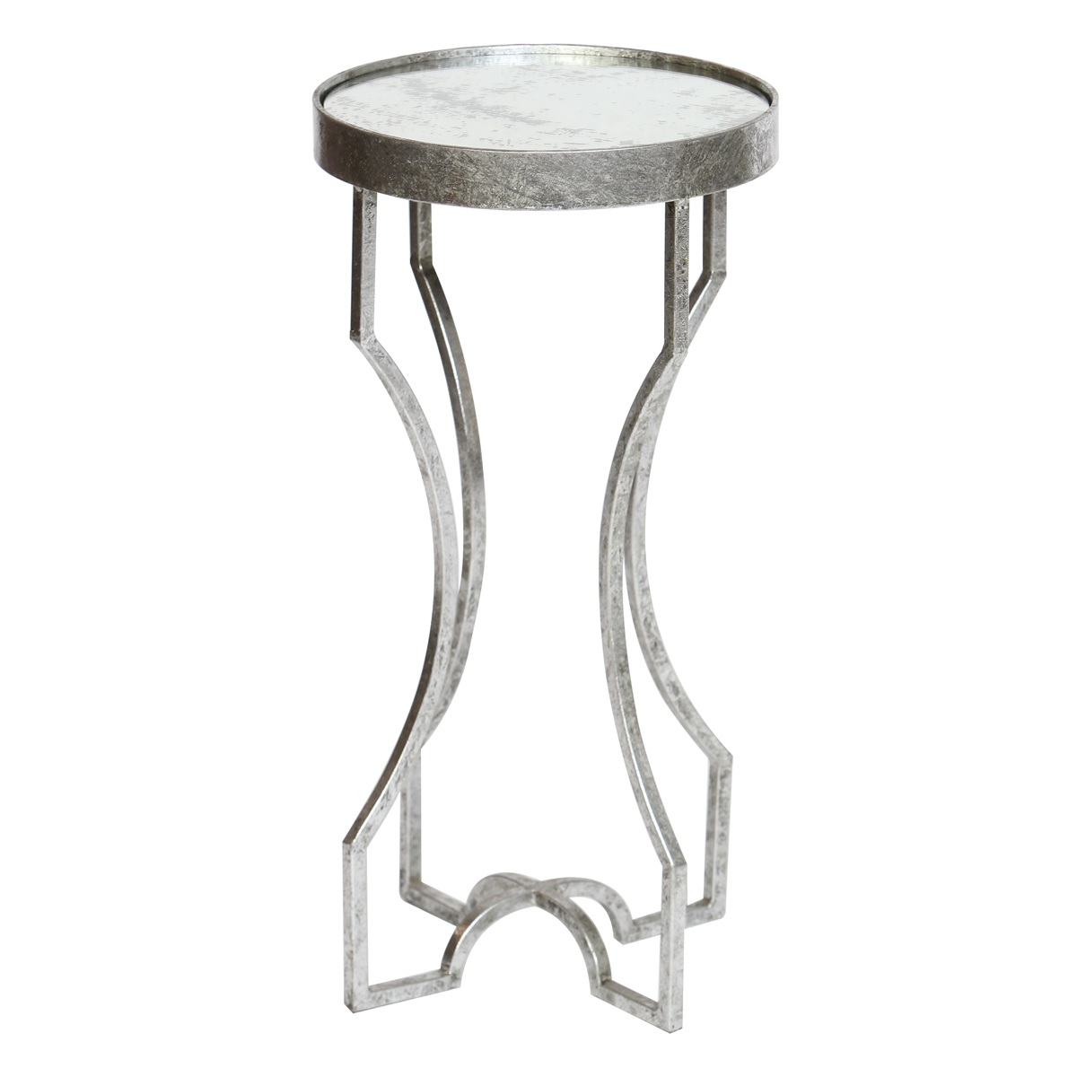 beach style furniture silver four legged accent table with antiqued mirror top and waterproof tablecloth placemats for round marble end tables old lamp pier one imports dining