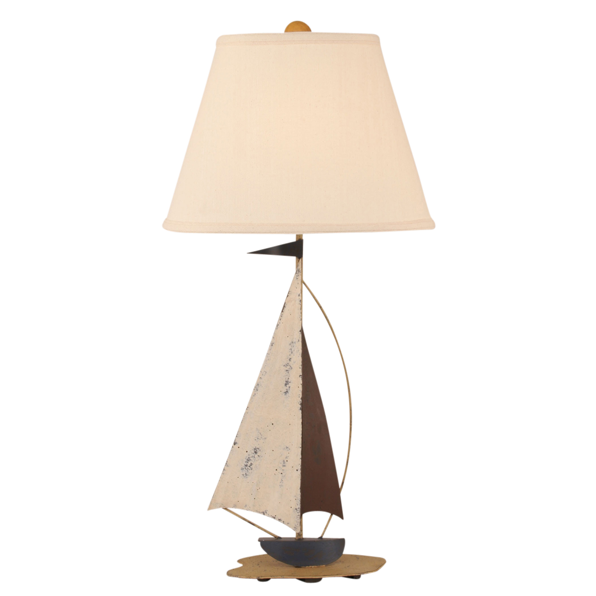 beach table lamps nautical iron sailboat accent lamp bella coastal sofa ping narrow console cabinet desk bathroom floor storage gray chair wine stoppers target drum throne seat