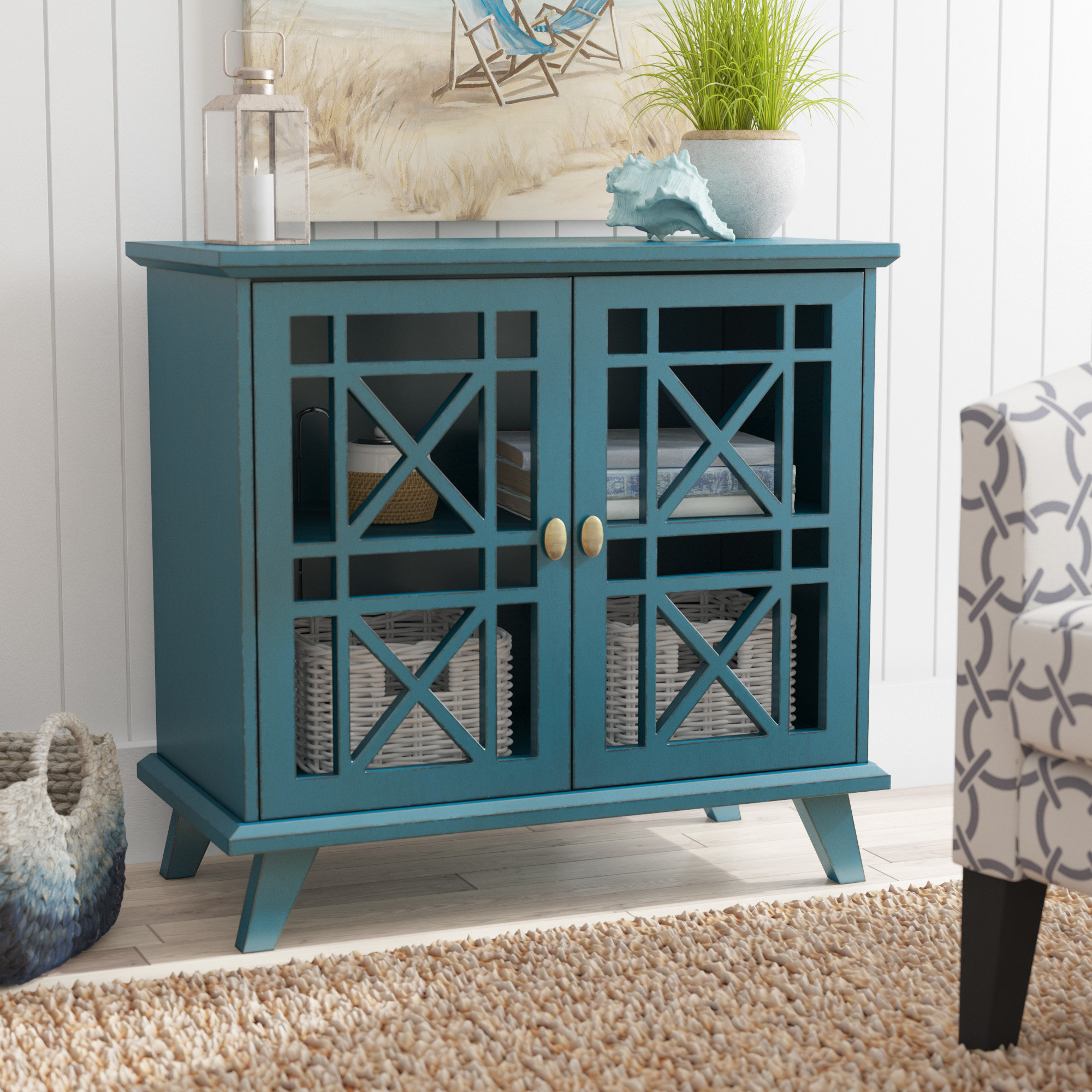 beachcrest home matheus fretwork door accent cabinet reviews table with glass doors goods dressers round metal nightstand black distressed side half moon dale tiffany peacock