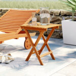 beachcrest home nesler folding wooden side table reviews room essentials trestle accent black ikea cocktail tables outdoor living furniture white and brown coffee walnut matching 150x150