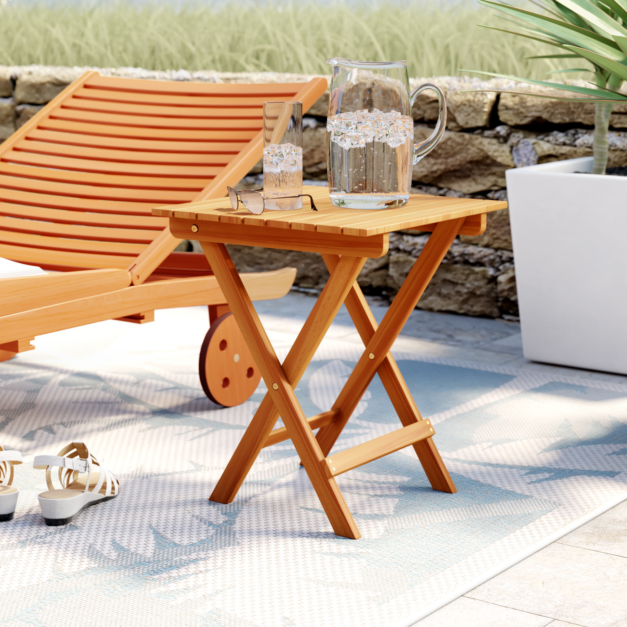 beachcrest home nesler folding wooden side table reviews room essentials trestle accent black ikea cocktail tables outdoor living furniture white and brown coffee walnut matching