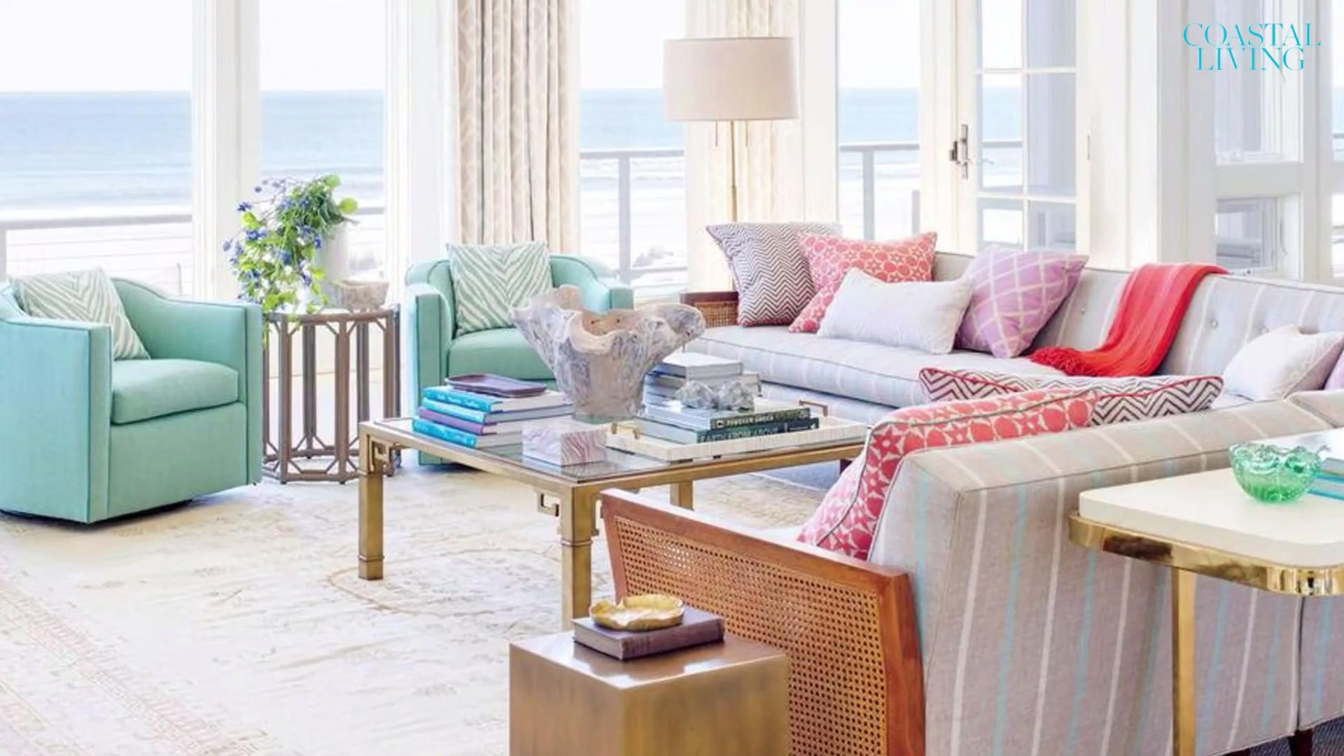 beautiful beachy living rooms coastal spaces accent tables these have bright style maple table top nautical lamps purchase linens large ginger jar teak end indoor vintage foyer