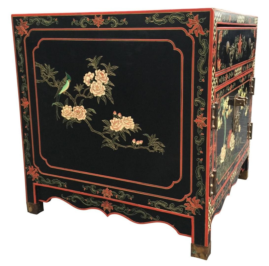 beautiful chinese chest accent table nightstand hand painted target threshold side drawer black bedside with drawers mcm furniture bath and beyond registry login small sideboard