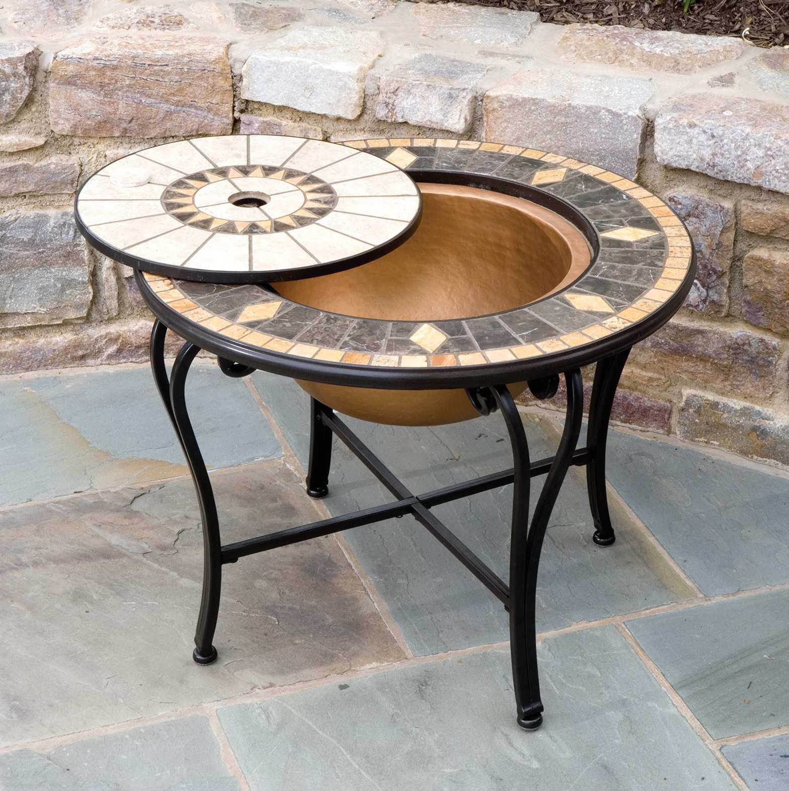 beautiful mosaic patio side table for outdoor square laflorn chairside end furniture website design kirklands bar stools metal outside whole lamp shades vintage replica protector