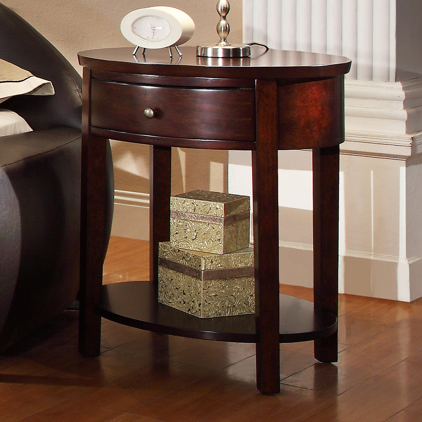 beautiful oxford creek sienna oval espresso accent table nightstand trestle measurements cool round tablecloths beach themed floor lamps wall clock safavieh inga gold coffee