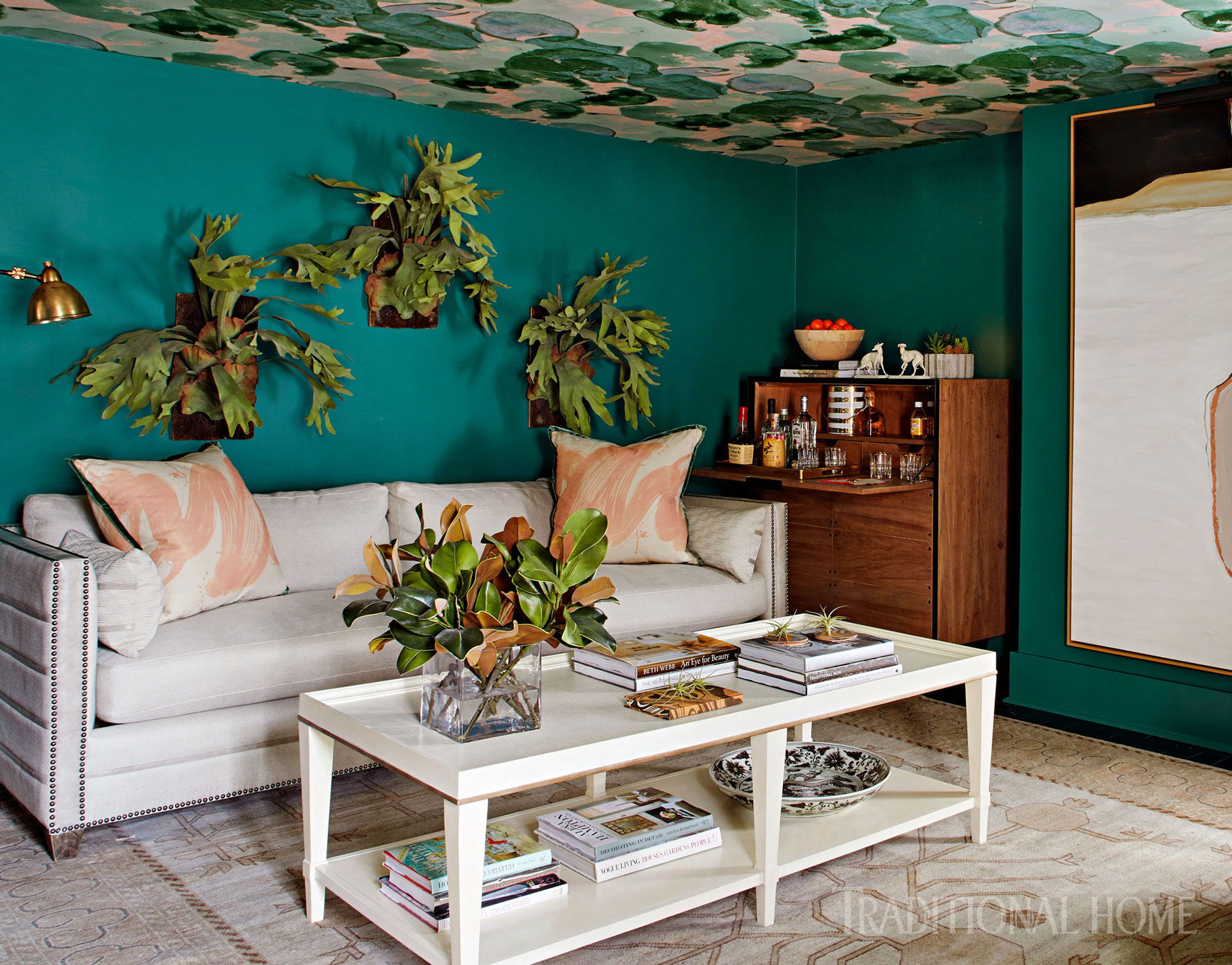 beautiful savannah showhouse traditional home miles redd kidney accent table enlarge ashley furniture sectional martin desk farmhouse style coffee extendable outdoor rustic green