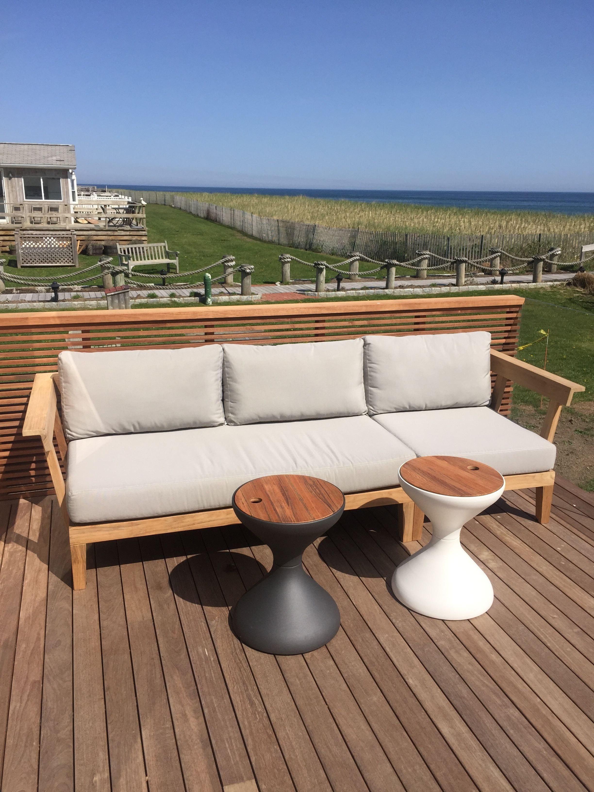 beautiful views from fun beachfront project working outdoor side table with ice bucket erica folding patio umbrellas that provide shade wood top coffee mid century modern dining