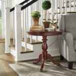 beckett antique wood pedestal accent table inspire classic free shipping today mirrored furniture ikea patio sets pallet kitchen pottery barn farmhouse coffee bases for granite 150x150