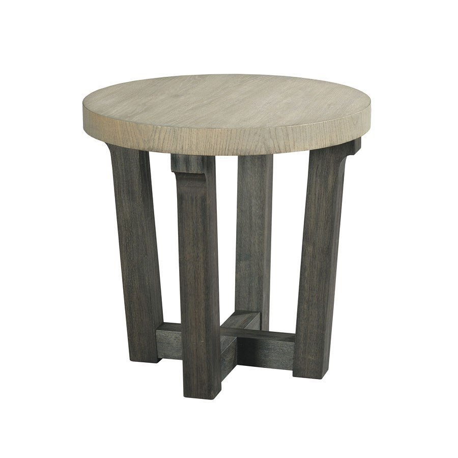 beckham round accent table occasional and furniture living gray black linen tablecloth patio serving cylinder drum outdoor top covers dining pedestal base only hampton bay set