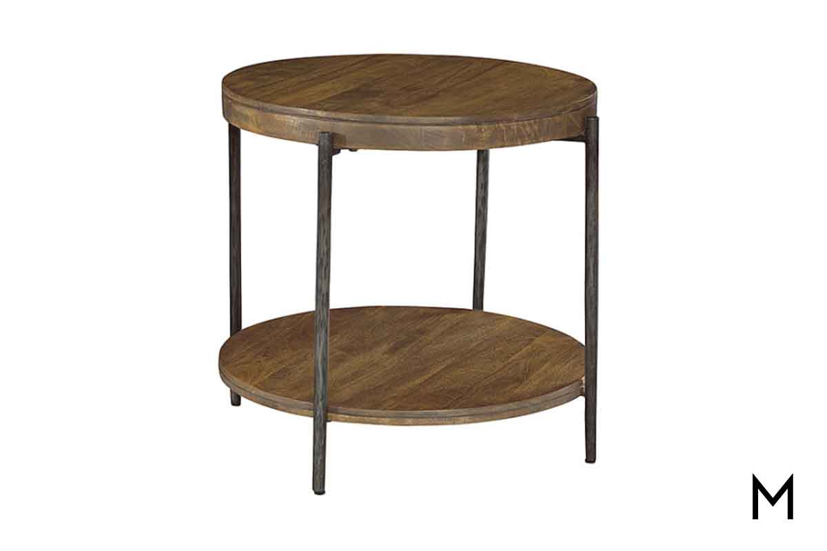 bedford round accent table solid wood tables dining height ethan allen weathered teak coffee acrylic console ikea modern metal legs patio swing set brass glass end backyard sofa