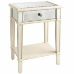 bedroom beautiful mirrored bedside table nightstand smooth white colored drawer pair cube accent narrow nest tables affordable modern outdoor furniture high patio kohls slipcovers 150x150