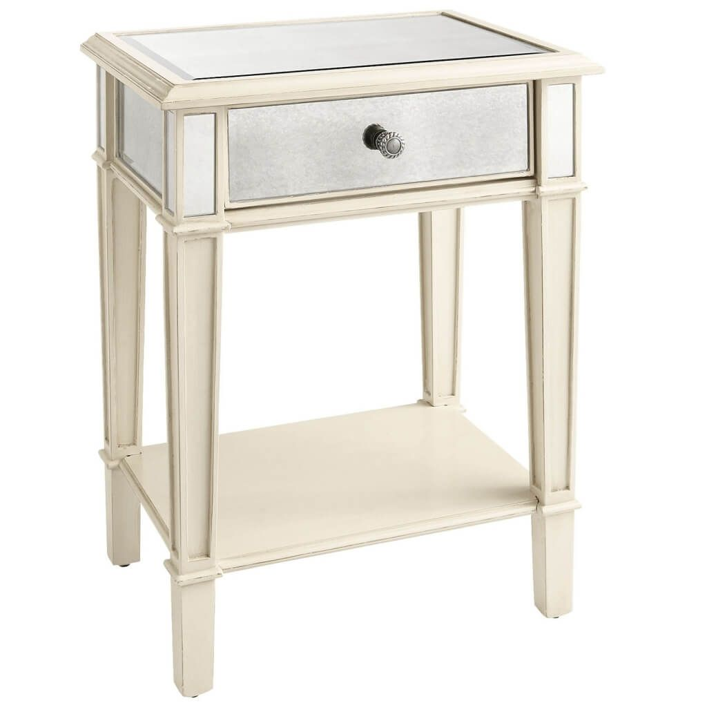 bedroom beautiful mirrored bedside table nightstand smooth white colored drawer pair cube accent narrow nest tables affordable modern outdoor furniture high patio kohls slipcovers