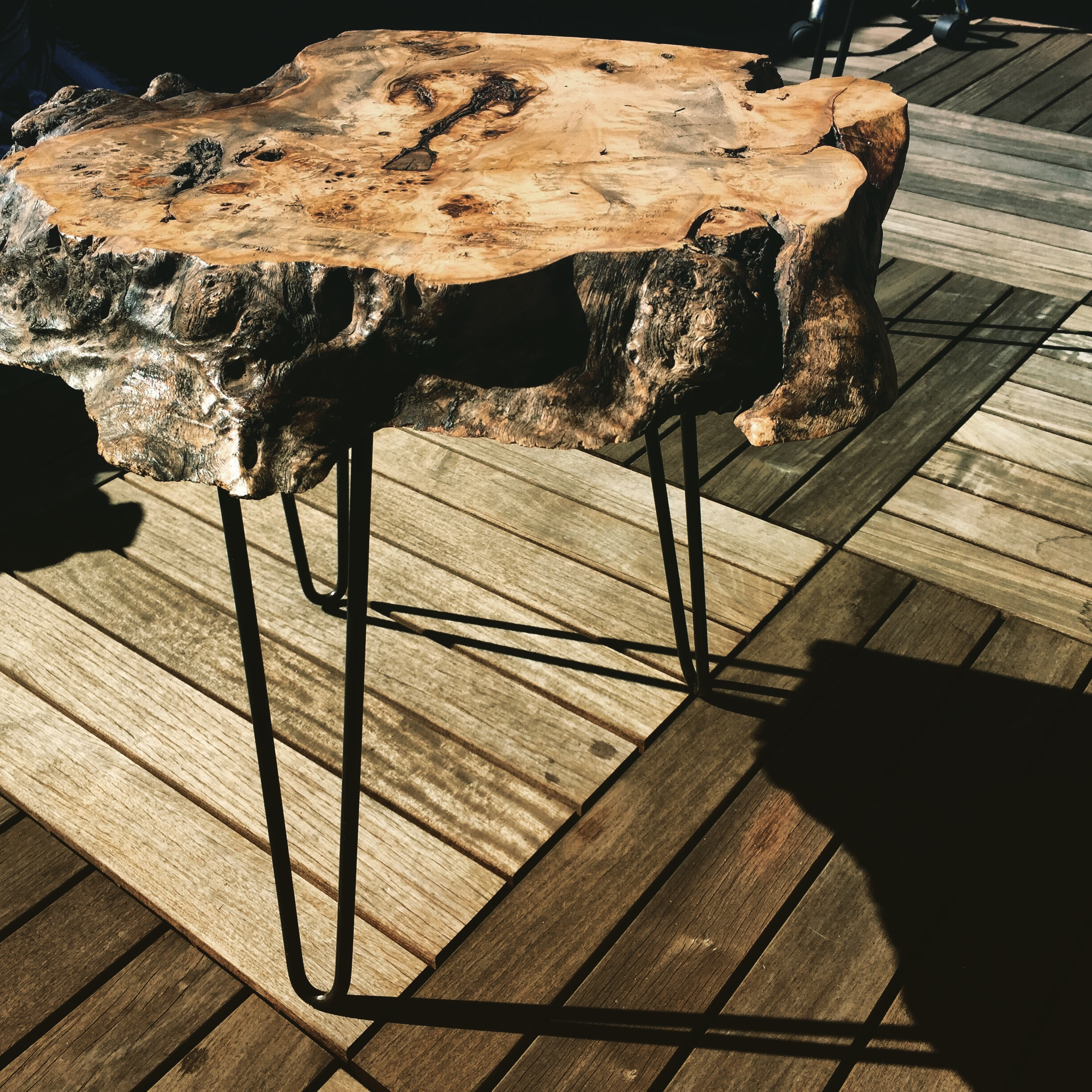 bedroom gun safe the perfect real burl wood end table ideas raw edge maple sold short bedside industrial dining set high little tables for living room double recliner sofa ikea