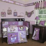 bedroom purple elephant baby bedding sets with black zebra crib valance brown fabric carpet lacquered wood side table drawer animal accent wall home goods kitchen tall mirrored 150x150