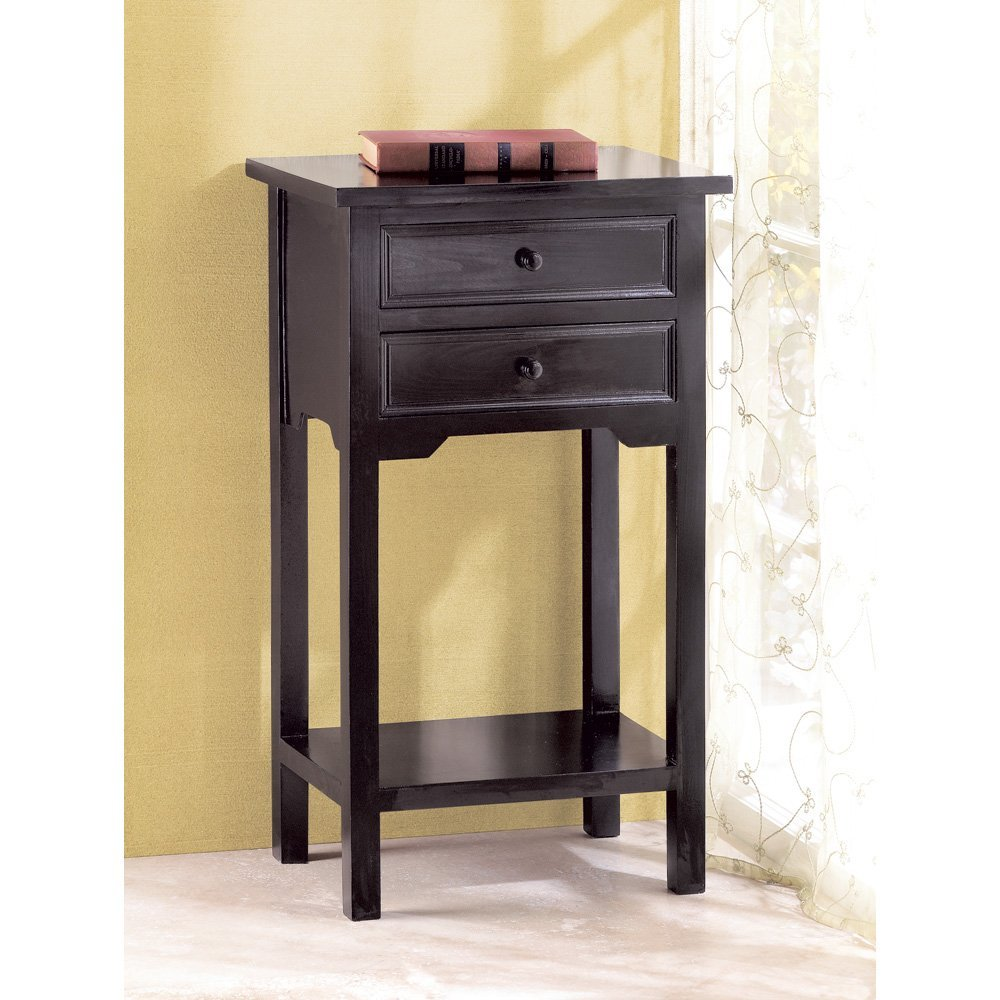 bedroom tall end tables black with door and book near white curtain furniture for complementary decoration thin accent table pier one sofa wood small cover mahogany oval dining