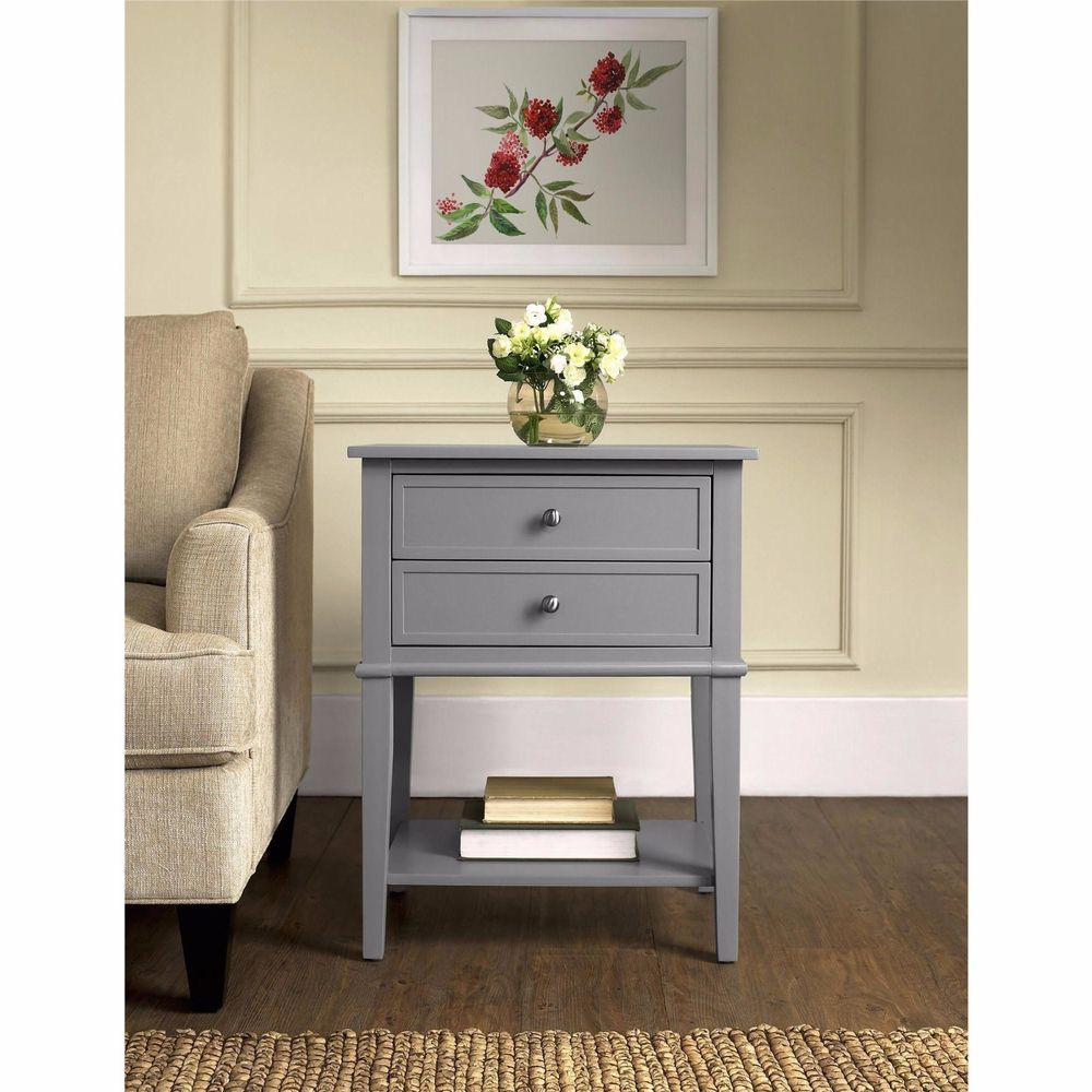 bedside table small accent end tables with storage night stands for drawer bedroom gray altra contemporary pedestal side faux marble cream dining room furniture off white coffee