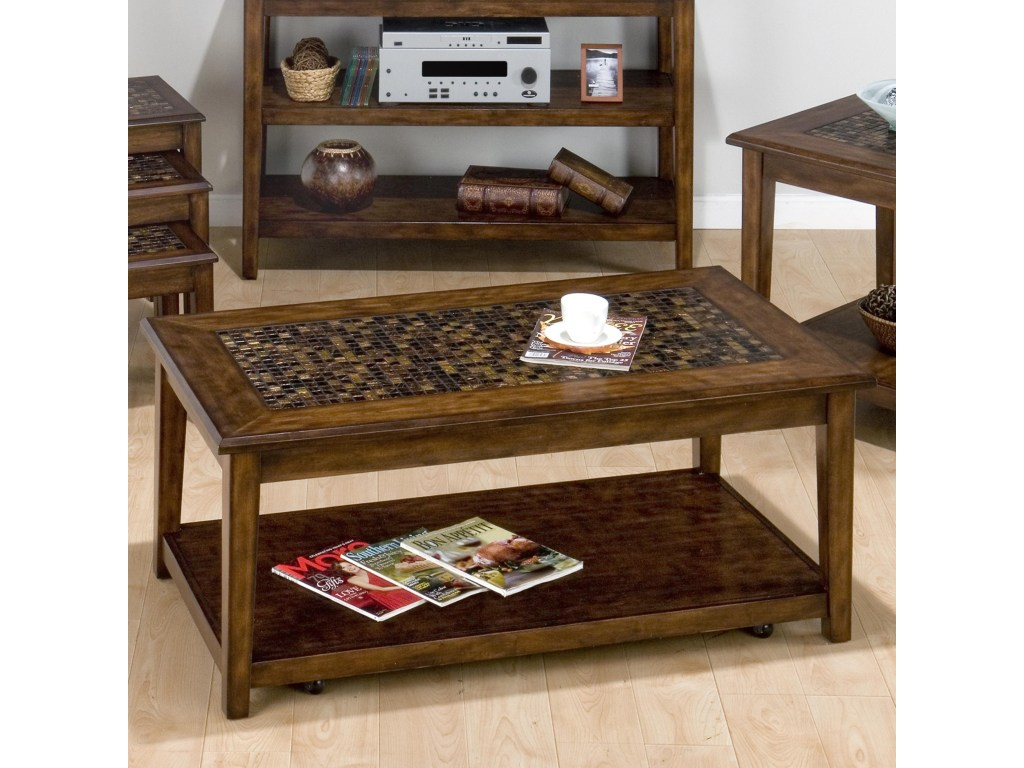 belfort essentials baroque brown mosaic tile inlay cocktail table products jofran color accent browncocktail pier living room farmhouse breakfast black wood side large cloth