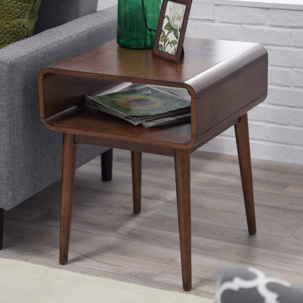belham living carter mid century modern side table wood accent kitchen dining hampton bay spring haven wicker patio furniture sets cordless lamps for room gold and glass coffee