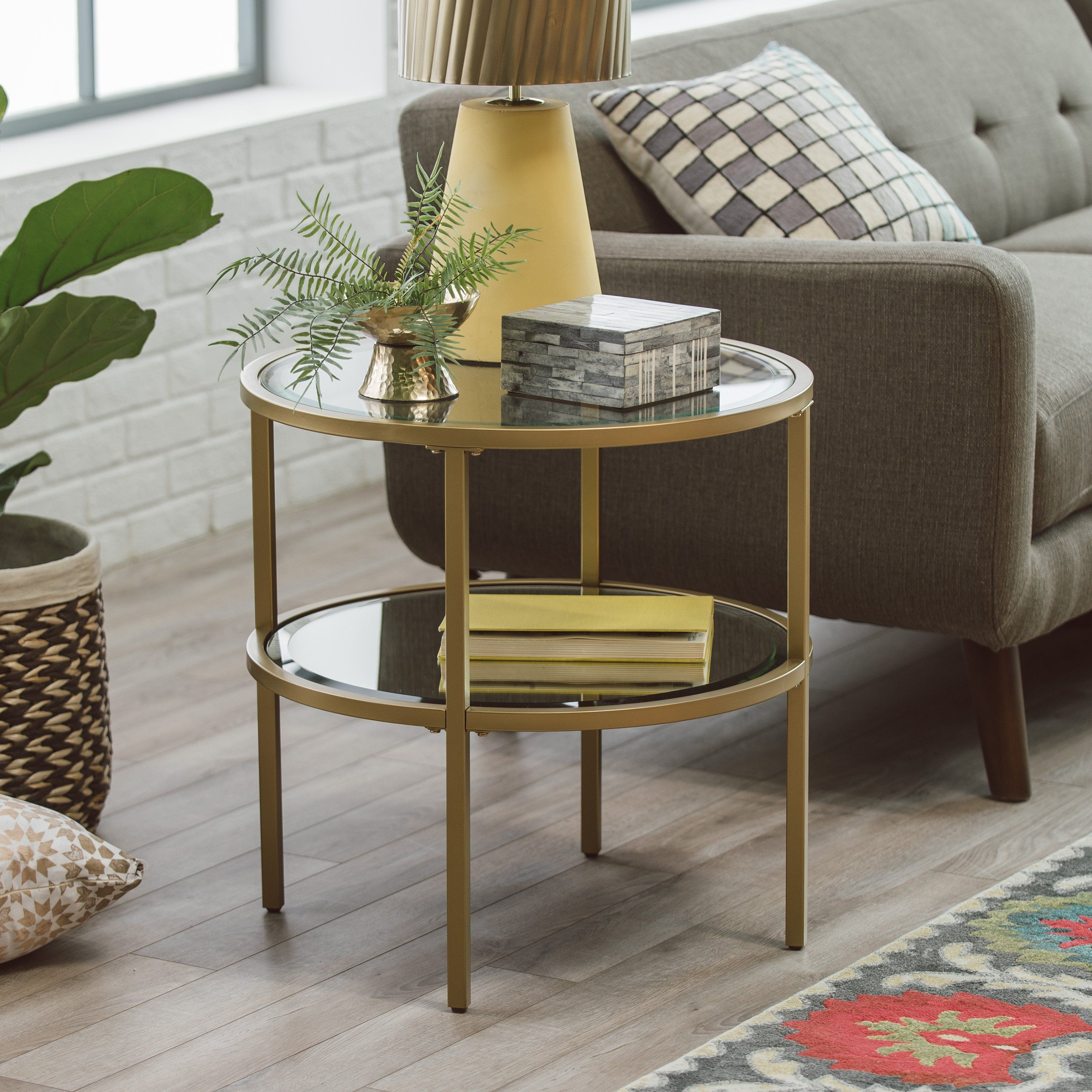 belham living lamont round end table gold new apartment montrez accent tables ikea side grey glass bedside sofa with drawer pier wicker chair drum rack and half storage brass