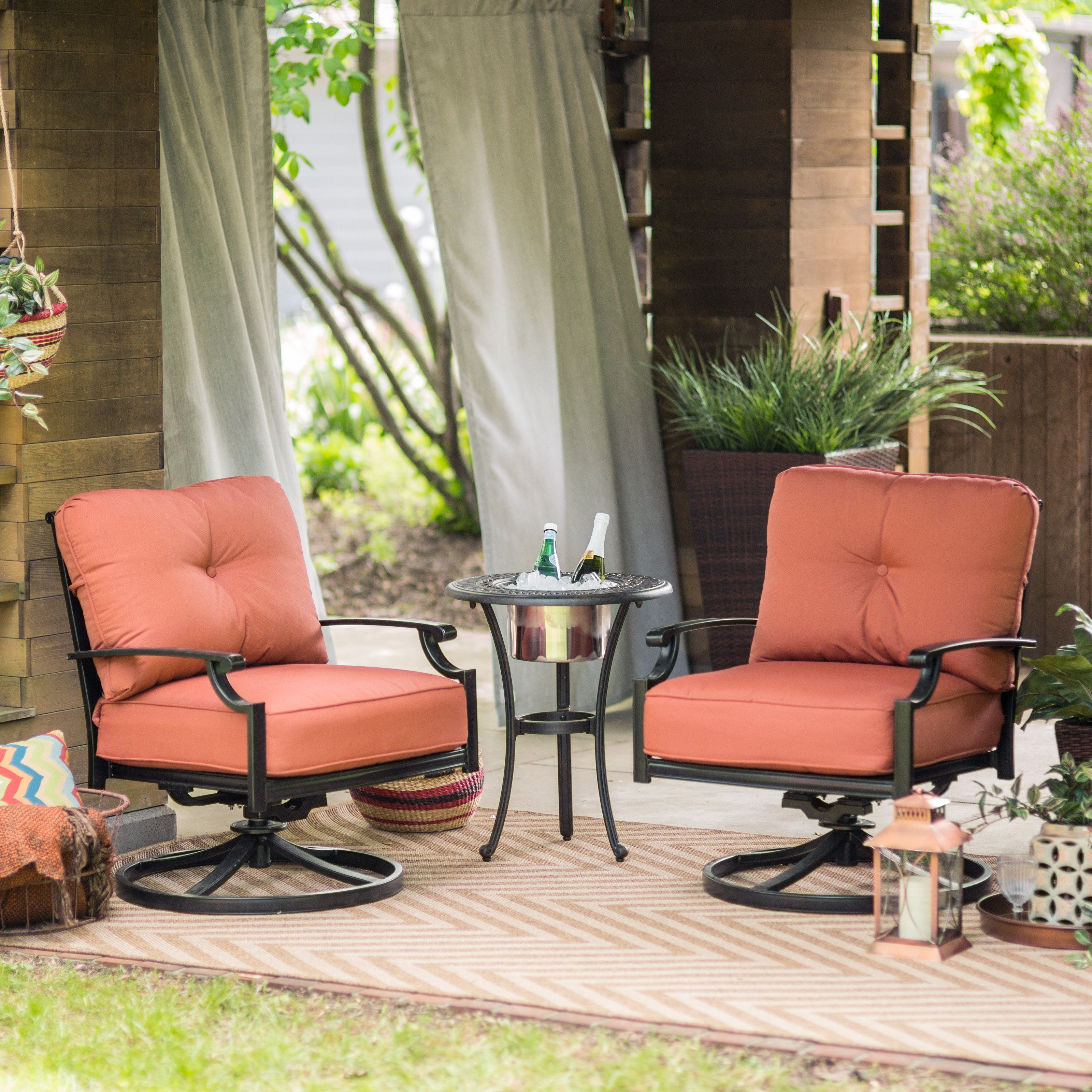 belham living san miguel cast aluminum swivel rocker club chairs with beverage cooler side table master outdoor kids reading nook hall console accent coffee clearance adjustable
