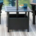 belham living steel square umbrella side table with slat top outdoor accent tablecloth for round grey plastic small porch and chairs patio cover battery powered dining room 150x150