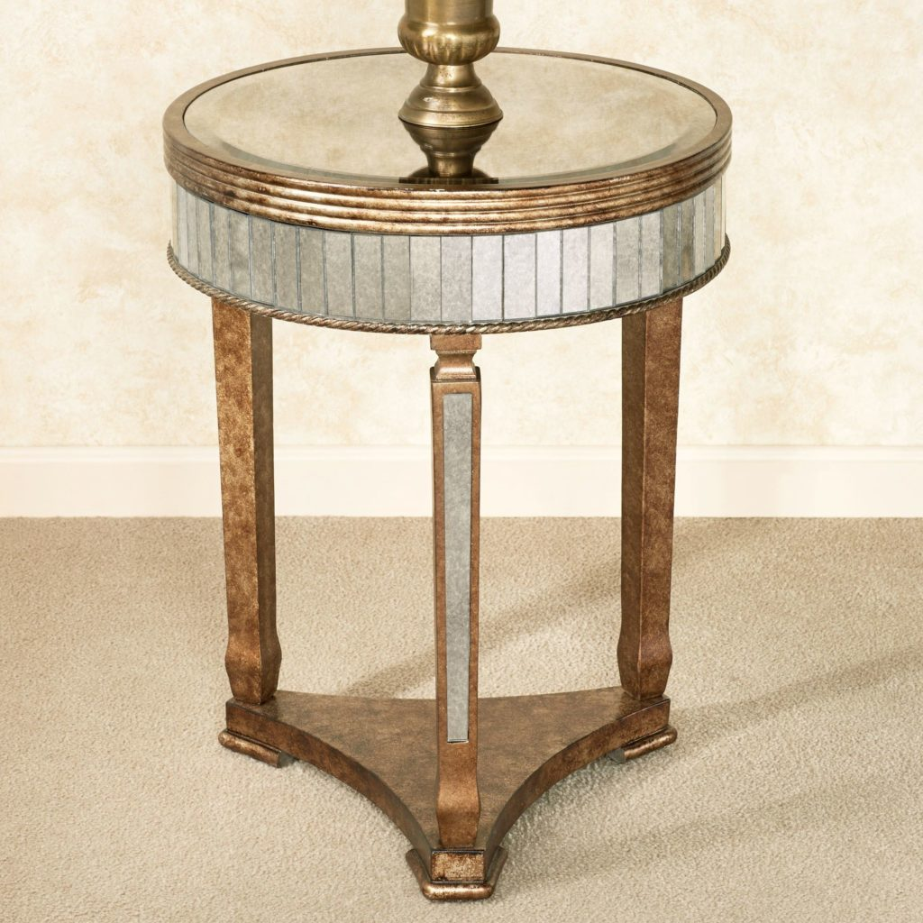 bella mina antiqued mirrored accent table mirage distressed blue side oriental style lamps gold nightstand rectangular patio umbrellas antique spindle leg cabinet contemporary