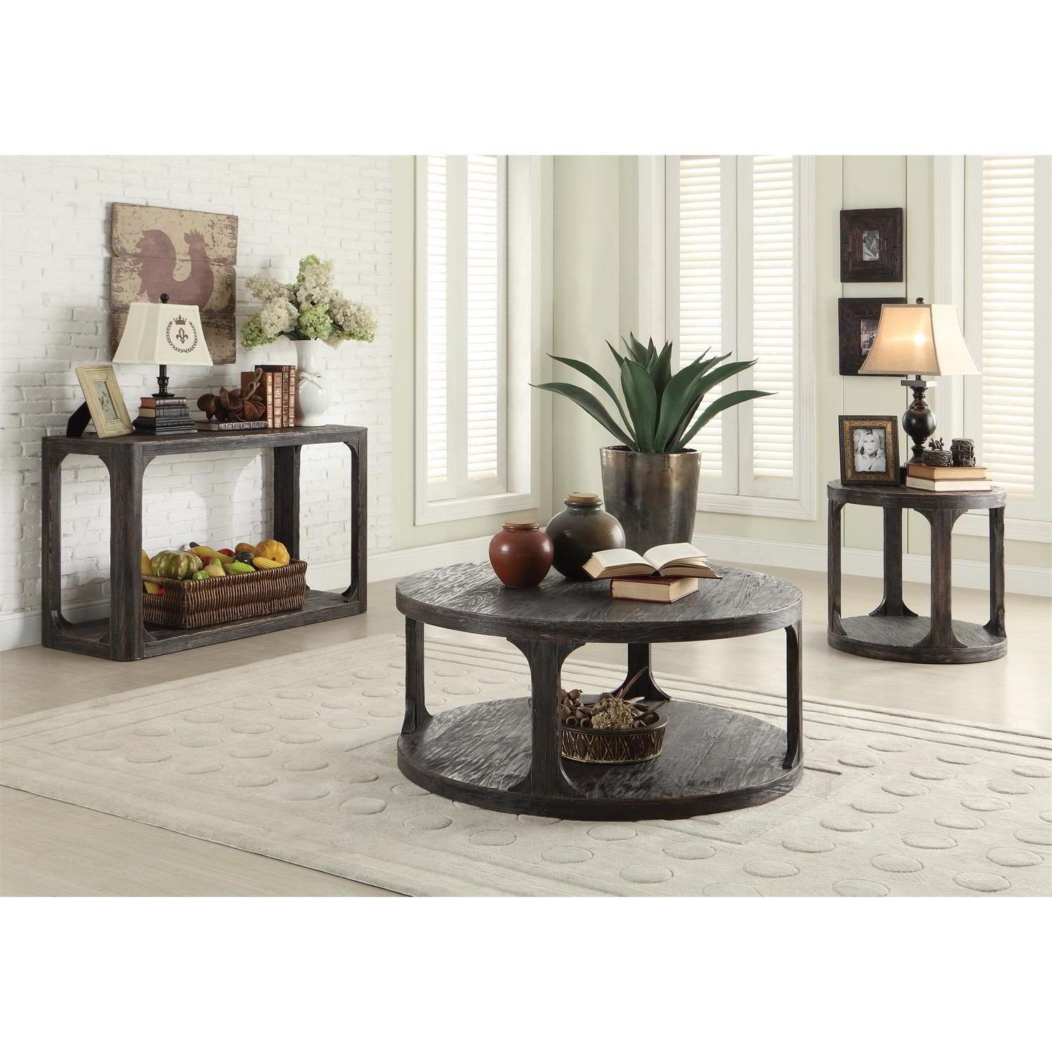bellagio coffee table riverside frontroom furnishings collection round pinebrook accent burlap tablecloth with bbq built two nesting tables lamps plus chandeliers tama drum throne