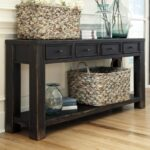 benchcraft gavelston distressed black sofa table with drawers products signature design ashley color virgil accent gavelstonsofa living room furniture nautical dining light 150x150