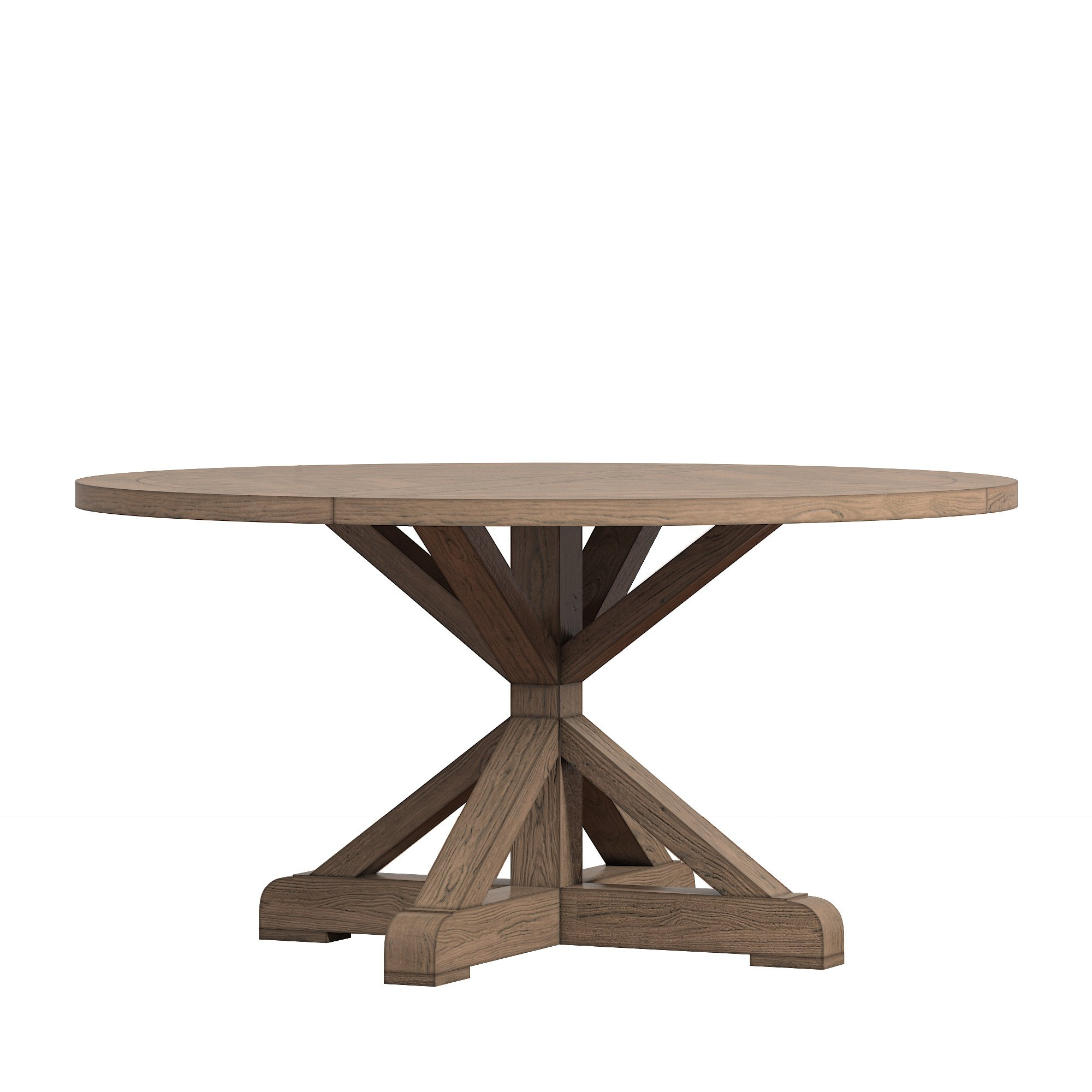 benchwright rustic base inch round dining table set inspire artisan pottery barn pedestal accent free shipping today best bedside stainless steel end mosaic bistro placemats art