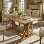 benchwright rustic pine accent trestle reinforced dining table inspire artisan room furniture small dresser lamps folding for space wine rack round top home goods desk outdoor 150x150