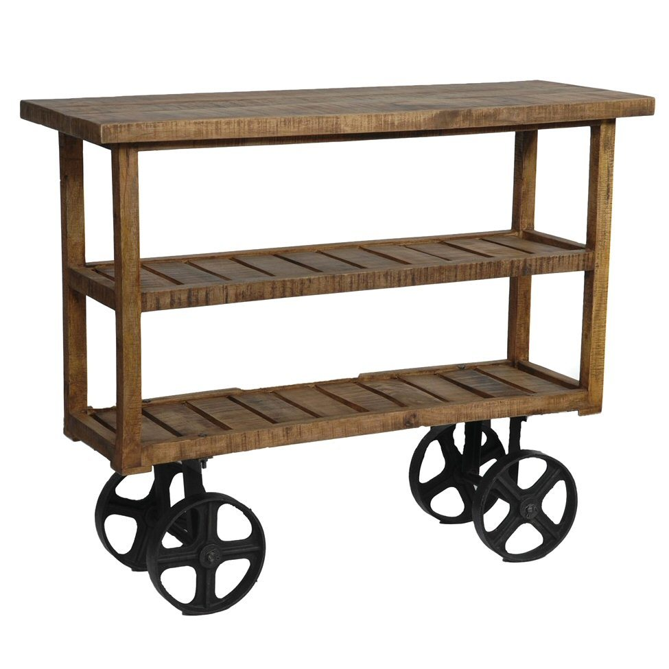 bengal manor industrial mango wood tea cart furniture twist accent table garden storage round side nautical style lamps apothecary coffee slim hallway cabinet rustic oak dining