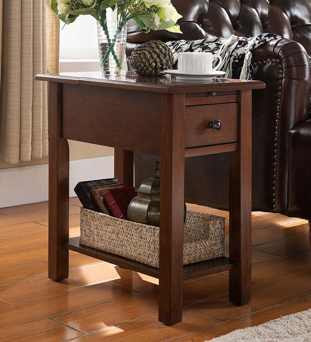 benton side table with charging station accent tables attractive power end has hidden ports your electronics smartidea goodidea furniture cabinet knobs coffee cover ideas torch